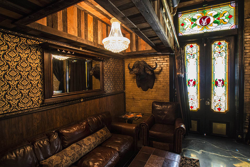Antiques and opulent wallpaper give the bar a San Antonio meets New York speakeasy vibe.  | Photo by Josh Huskins