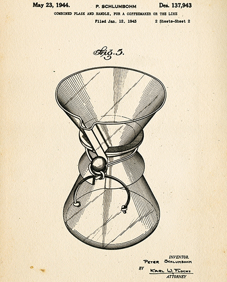 In the 1950s, a 1-quart (4-cup) Chemex coffeemaker was priced around $6.
