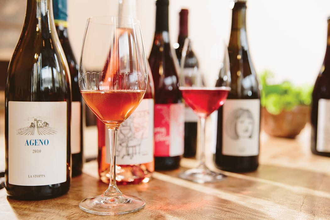 natural wine-the punchdown-bottles2-crdt carolyn fong