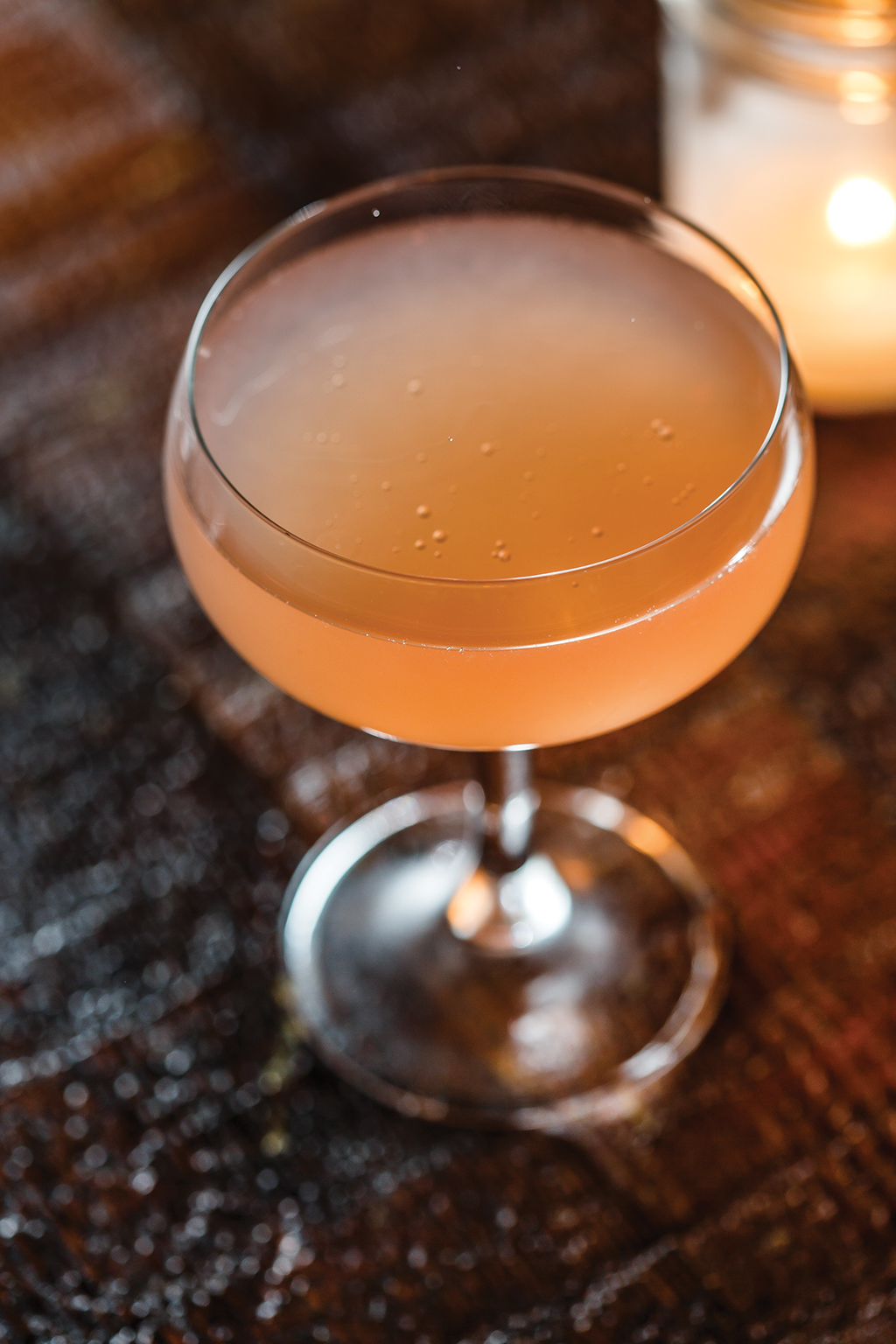 Mezcal, grapefruit and cardamom flavor the sparkling Party Cat. | Photo by Stuart Mullenberg.