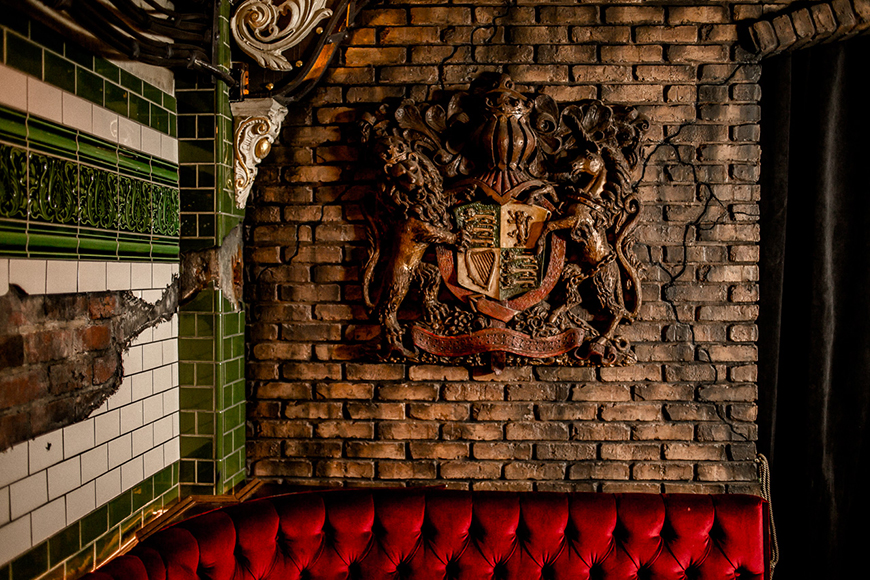 Flourishes of Victorian England can be found throughout the bar.