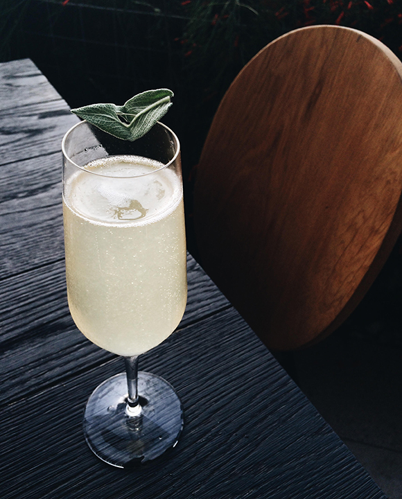 Pear Sage Cocktail. | Photo by Emma Janzen.