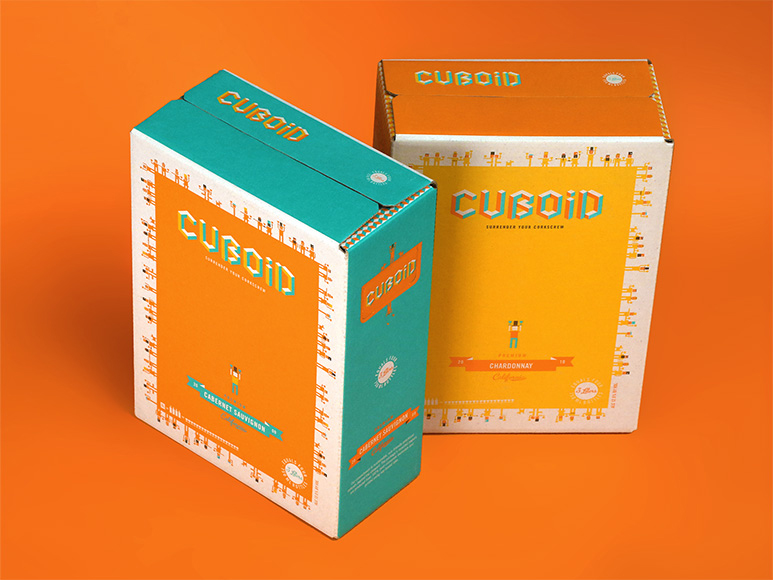 Otis expects to see more alternative packaging styles in the wine design. The firm designed the boxes for Cuboid boxed wine.