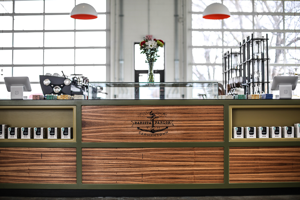 The newest Barista Parlor location in the Germantown neighborhood embraces a similar design aesthetic with clean lines and open work spaces but with completely custom detailing throughout.