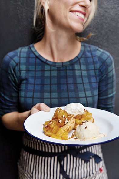 Caramelized Pineapple Shortcake is the darling of the dessert tray, thanks to a good glug of rum and spoonfuls of caramelized pineapple. | Photo by Dylan + Jeni.