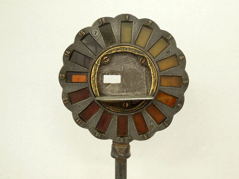 Colorimeter from from the Voigt collection, circa 1890-1900. The museum explains,