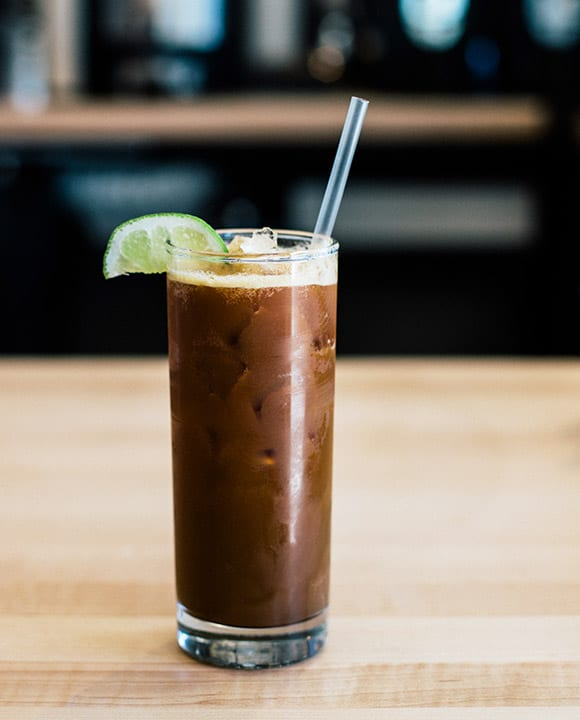 The Espresso Tonic at Fleet Coffee. | Photo by Chelsea Laine Francis.