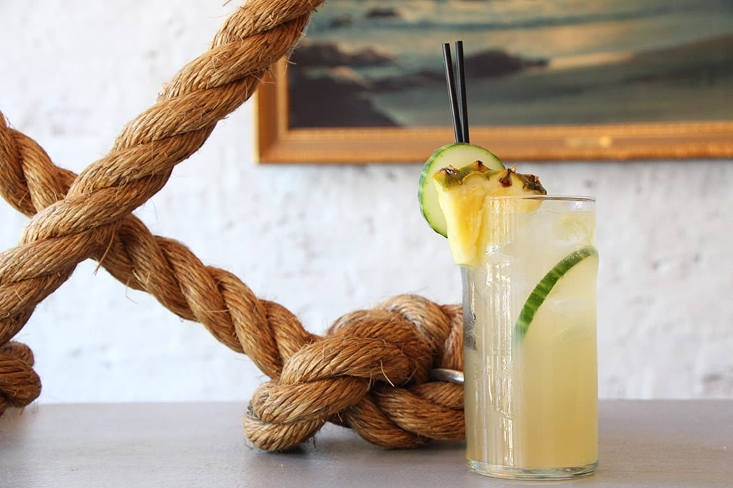In the Juke Cup, falernum serves as the base of the cocktail, rounded out with a bit of fresh cucumber, lime and honey. | Photo by Emma Janzen.