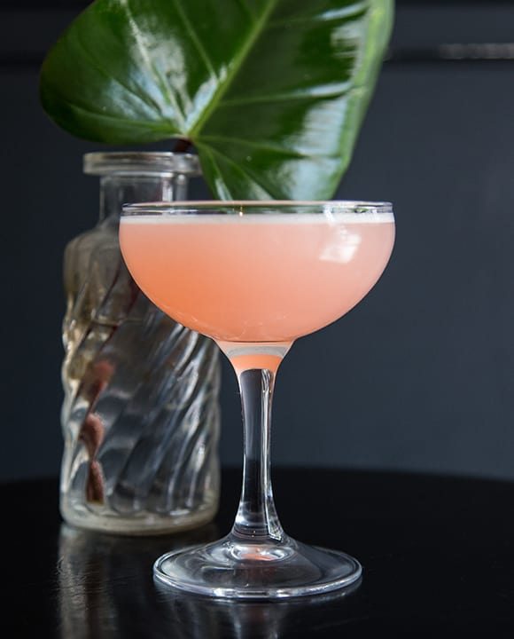 Tinted by Aperol and sweetened with falernum, the equal-parts Spicy Dead Lady couldn't be easier to assemble—or enjoy. | Photo by Vanessa Granda.