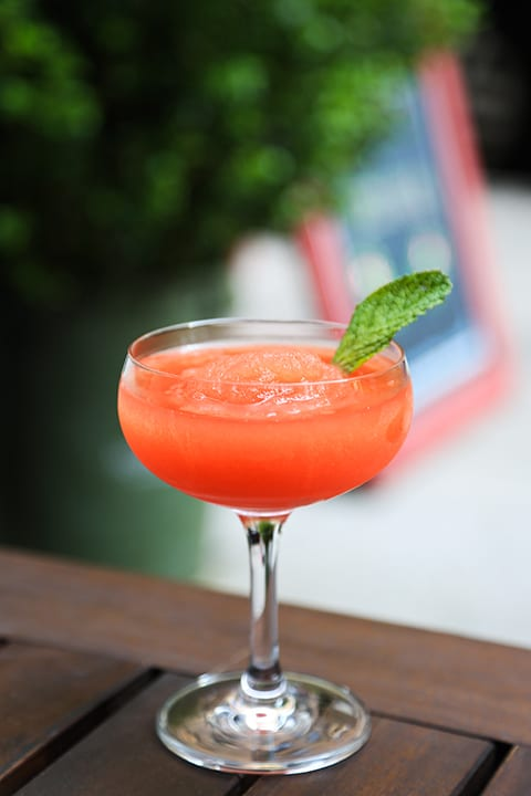 Tequila Watermelon Slushy. | Photo by Katie Burton.