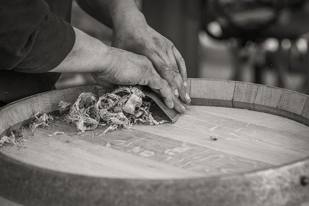 Herrera does finishing touches like shaping and sanding by hand, utilizing many of his original tools from his training.