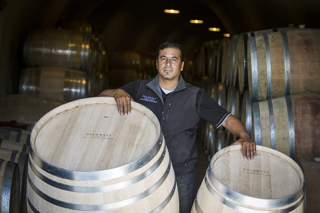 Ramiro Herrera has been working in the industry for more than 20 years and now builds barrels exclusively for the Caldwell Vineyard Cooperage.