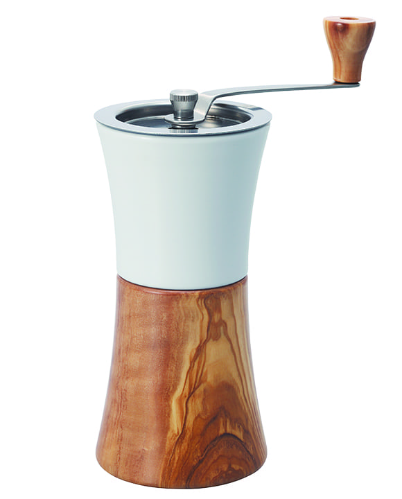 Hario Ceramic Coffee Mill Olive Wood. | $93, firstcrack.com
