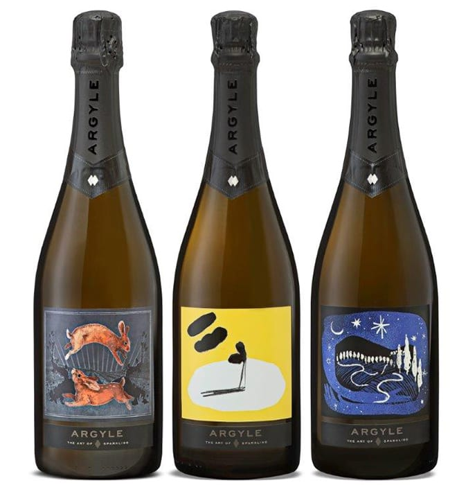 Argyle The Art of Sparkling Box Set. | $100 for a 3 bottle set, argylewinery.com
