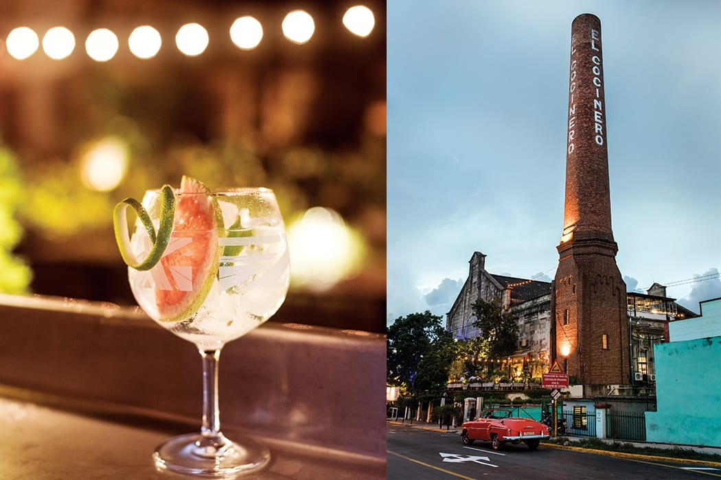 El Cocinero is a modern restaurant and bar that serves drinks like Spanish-style Gin & Tonics.