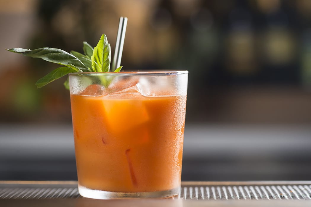 Booze doesn't enter the equation in this clever carrot juice mocktail, but the flavors of carrot, orange, lime and ginger beer sing nevertheless. | Photo by Evan Sung.