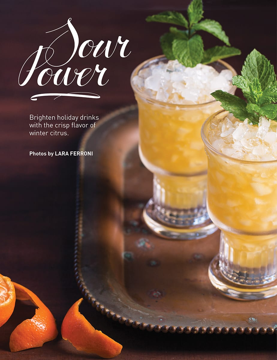 Seasonal drink recipes and entertaining tips.