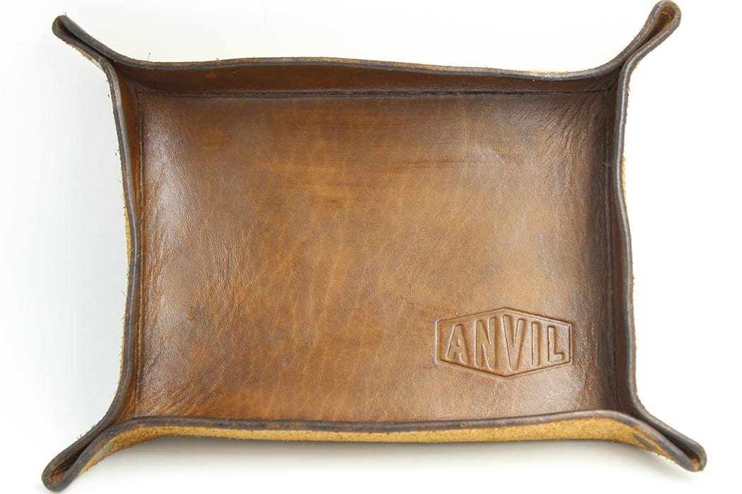 Anvil Leather Tray. | $35, anvilhandcrafted.com
