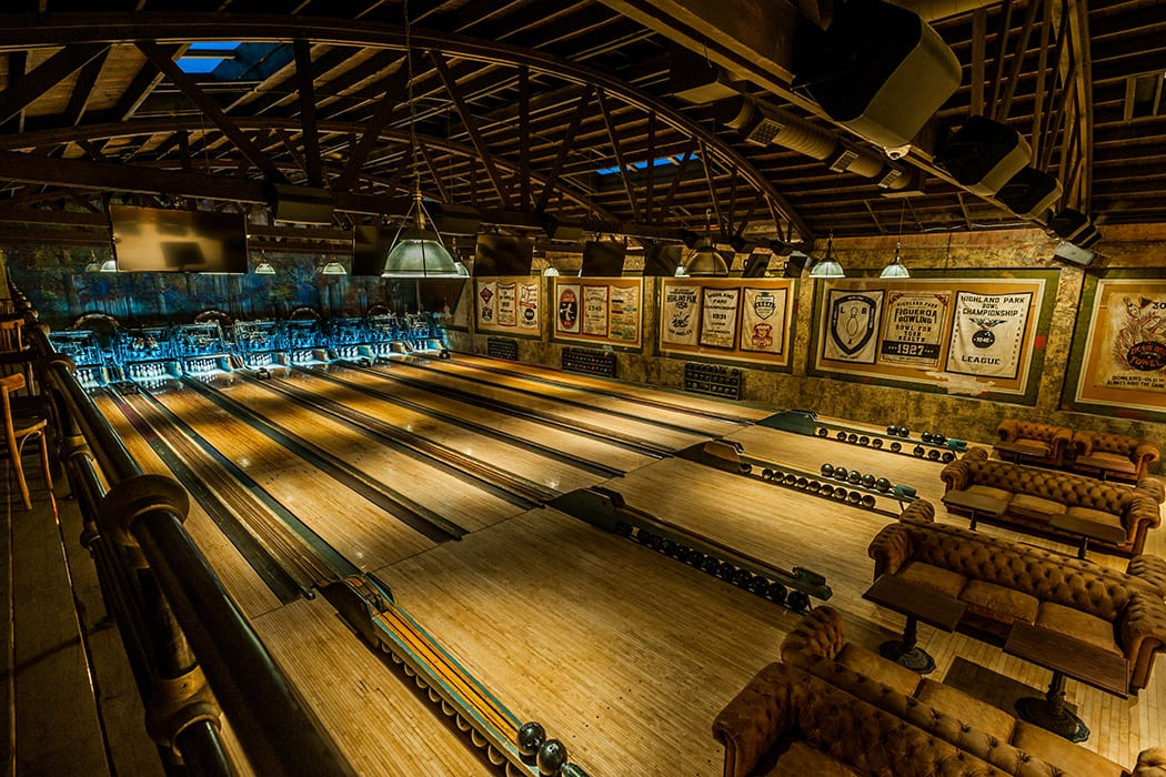 Many of the original elements of the bowling alley were restored, including the wooden lanes and pinsetters. | Photo by Wonho Frank Lee