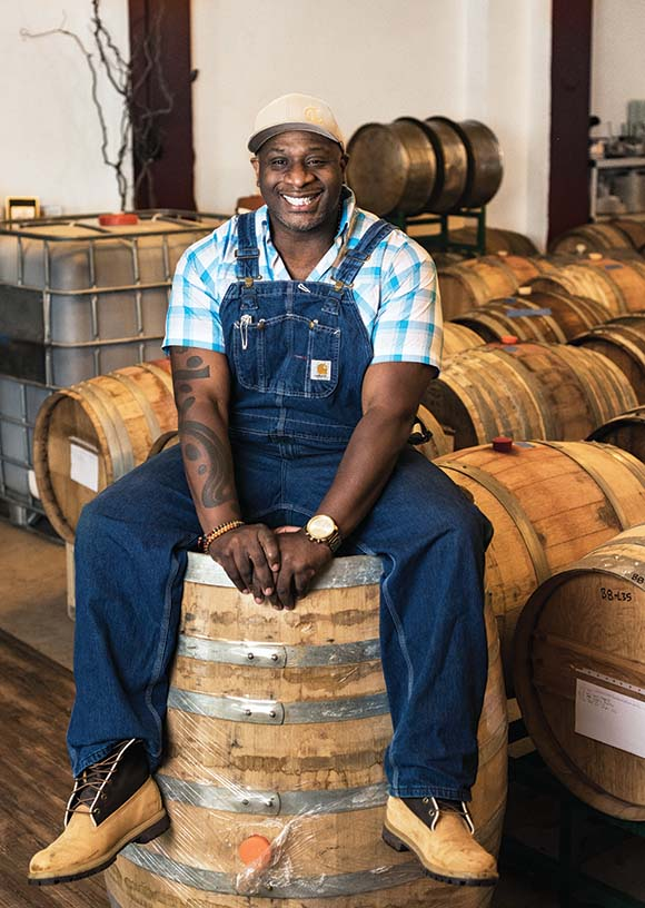 Bertony Faustin,  founder of Abbey Creek Winery. | Photo by Dina Avila.
