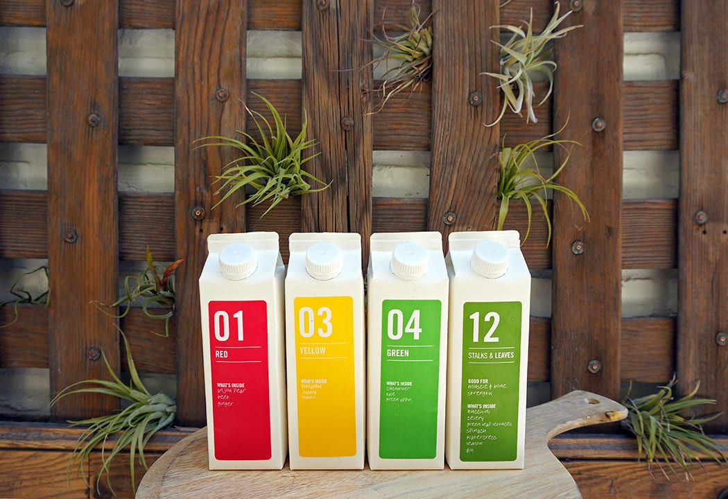 The Juice by Color program offers different juices organized according to their health benefits. | Photo by Whitney Leigh Morris.