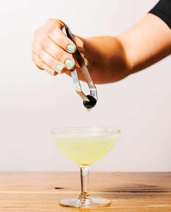 The classic Last Word cocktail meets mezcal in the Last of the Oaxacans. | Photo by Carolyn Fong.