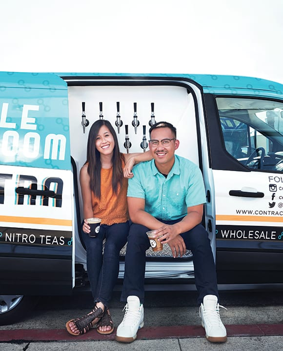 Paul del Mundo and Julie Nguyen of Contra Coffee. | Photo by Dylan + Jeni.