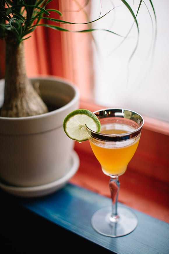 A spin on the classic Daiquiri, the Nuevo cocktail combines pineapple rum, lime juice and rich brown sugar simple syrup.