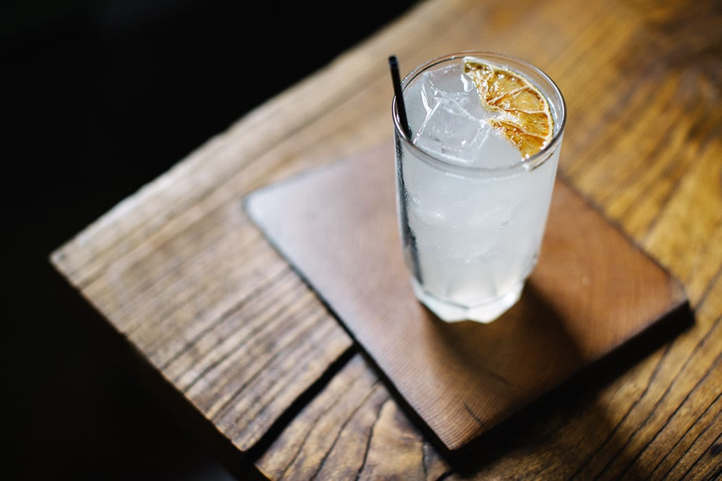 The Ocho is one of bar manager Drew Lucido's favorites on the menu, with mezcal, lime, grapefruit, Luxardo maraschino and ghost pepper tincture.