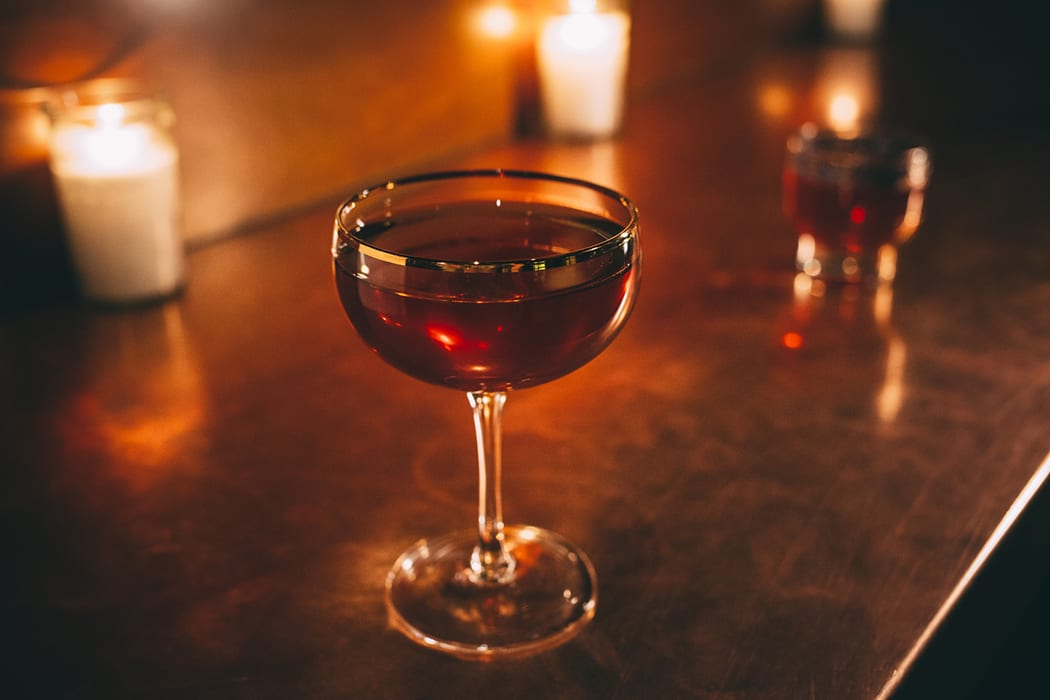 The Vieux Carre cocktail is always a favorite at the bar.