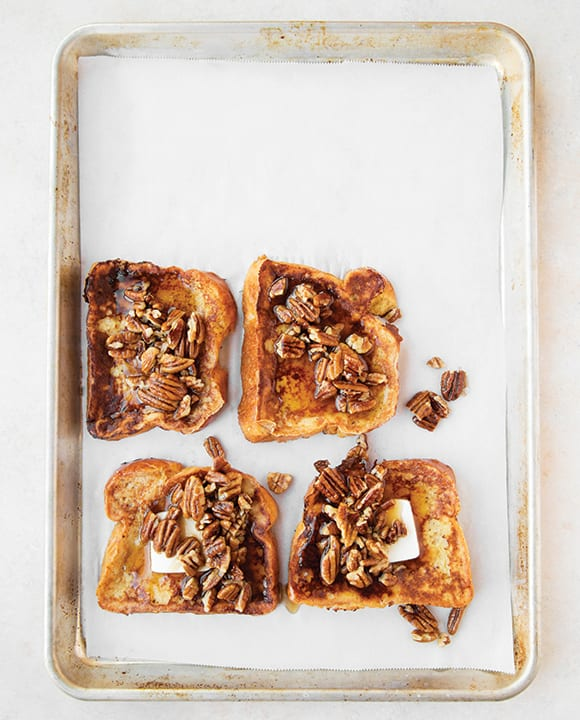Buttered Pecan French Toast with Bourbon Maple Syrup. | Photo by Jon Melendez.