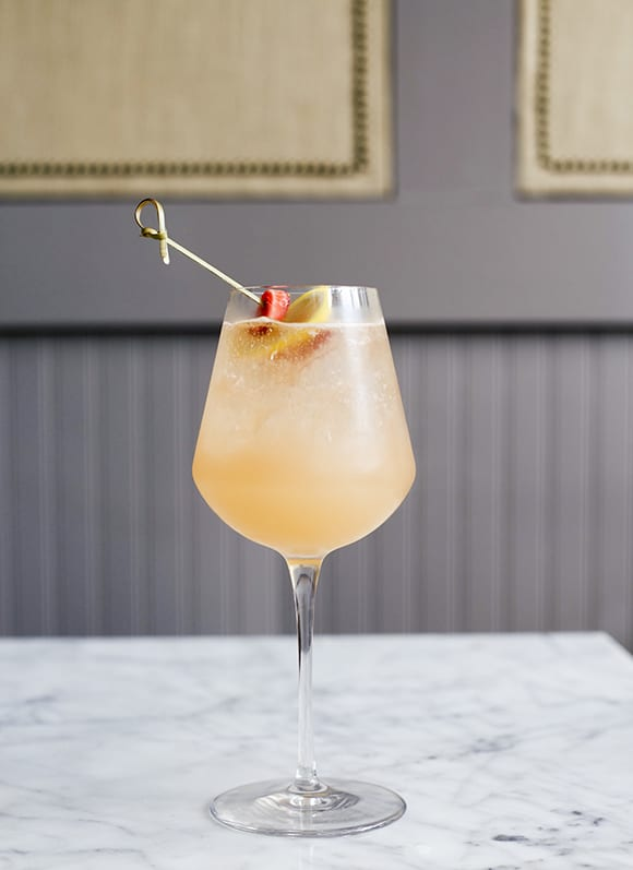 The Whaley's #1 cocktail is a sunny spritz with rum, St. Germain, grapefruit juice and rosé. | Photo by Morgan Hungerford West.