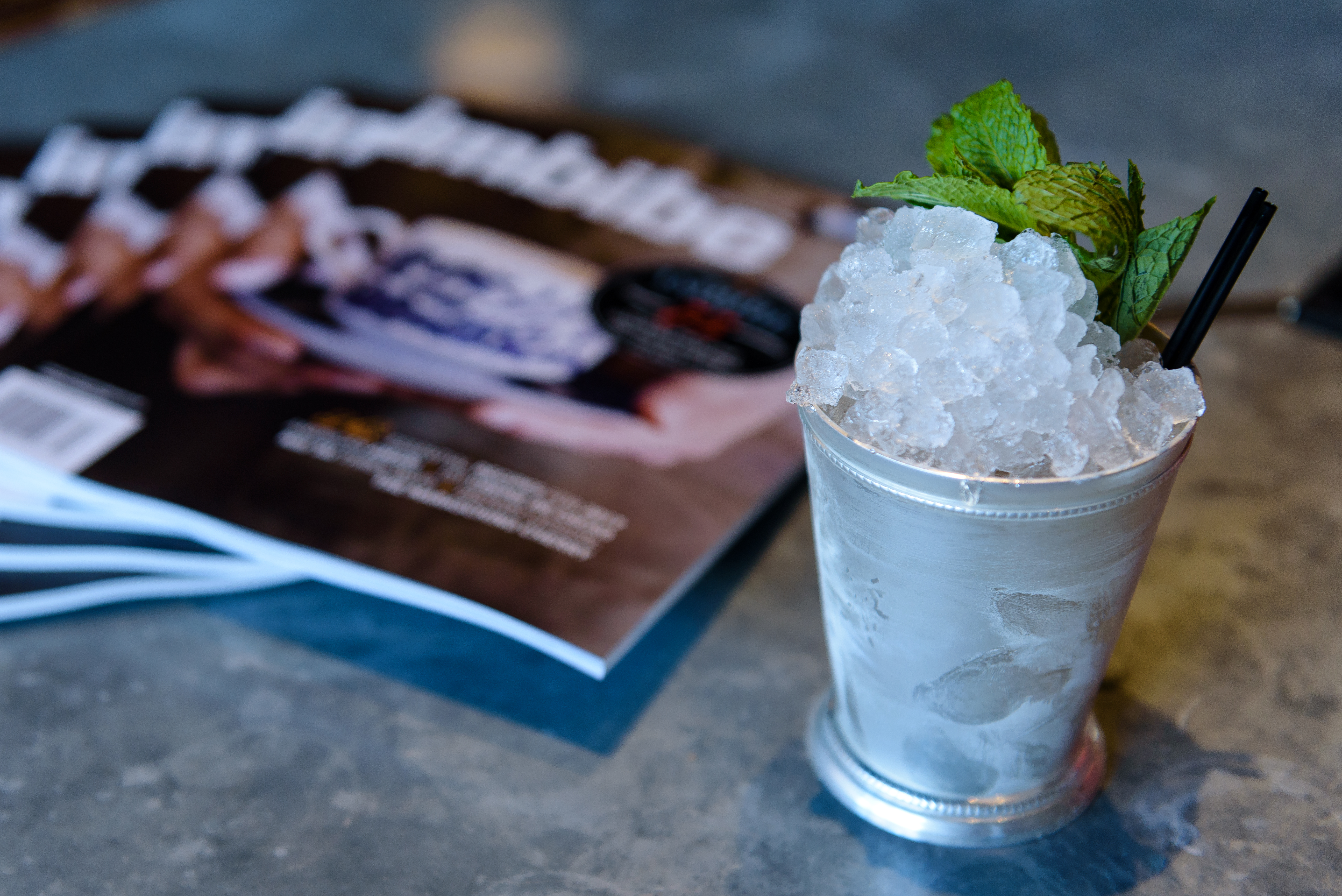 A Mint Julep at the Ice Age of Mixology session.   Photo by Robert Donovan, courtesy of Charleston Wine + Food