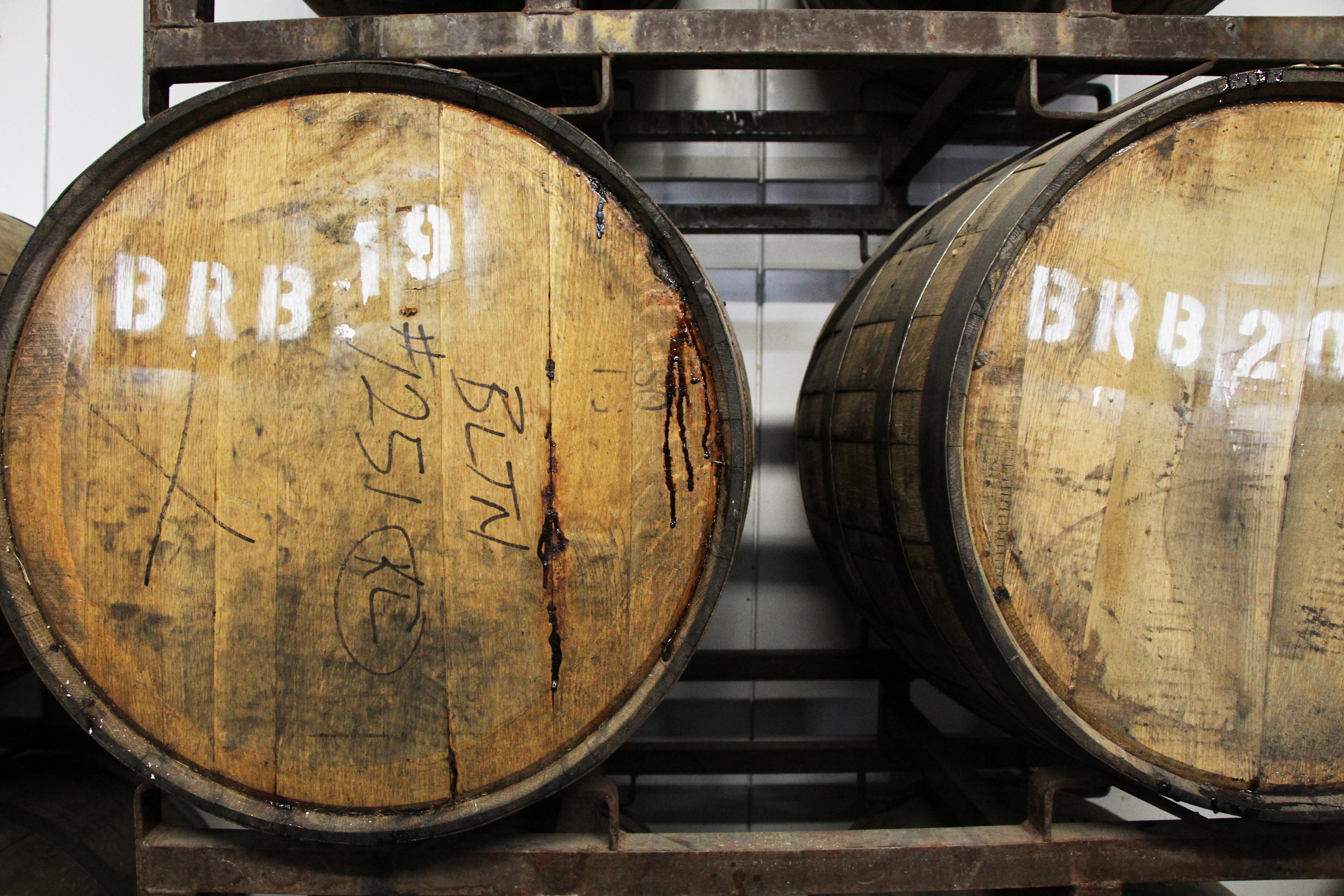Rhinegeist has rows of sour beers aging in former bourbon barrels in the basement of the brewery.