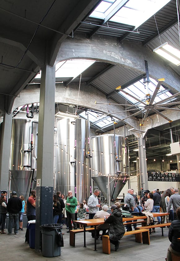 Rhinegeist Brewing is located in the former bottling factory for Moerlein Brewing in the historic Over-The-Rhine neighborhood.