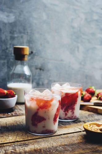 strawberry horchata