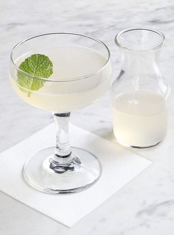 The Juliet & Romeo  features cucumber, rose water, mint & gin. | Photo by Cassandra Stadnicki.
