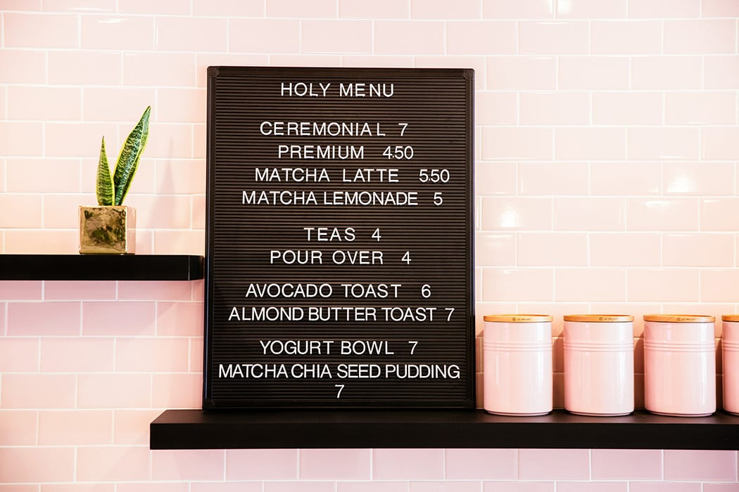 The menu is refreshingly simple, featuring only a few options for drinks and snacks.
