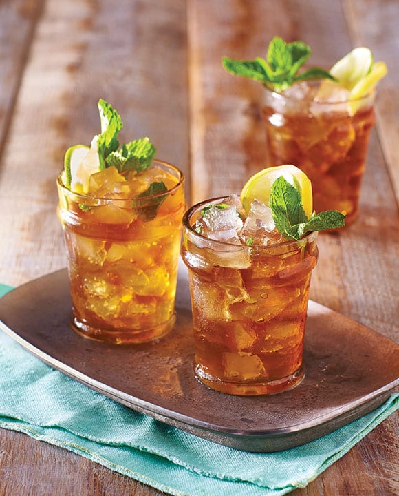 With the same mint and bourbon combo of a traditional mint julep, this patio-ready Mint Julep Iced Tea brings another Southern staple into the mix—sweet tea. | Photo courtesy of Time Books, Inc.