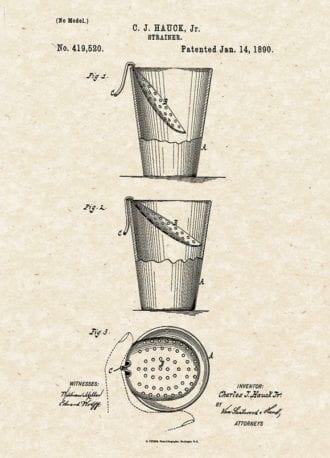 strainer patent-hauck-vertical