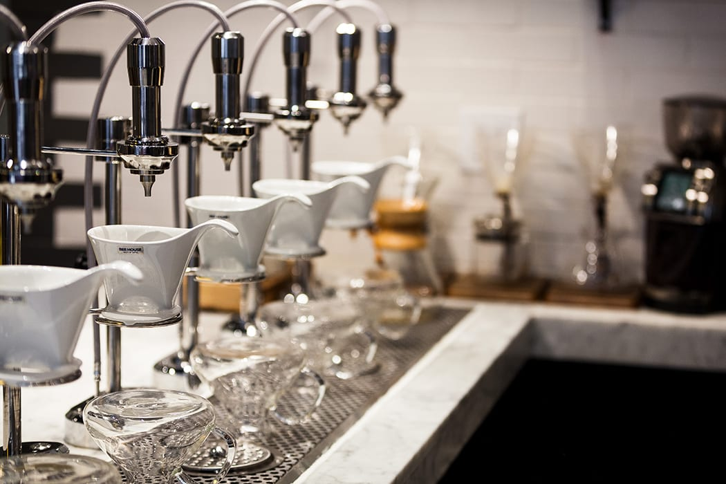 Pour-over service is automated, to expedite service and free up employees to interact with guests. | Photo by Dorey Kronick.