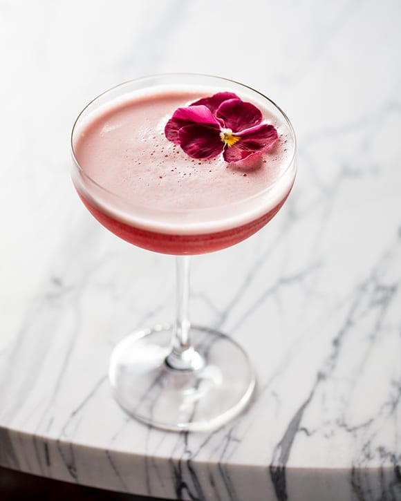 In the Western Addition cocktail, blanco tequila meets rhubarb, peppercorn, Verjus blanc and sparkling saké.