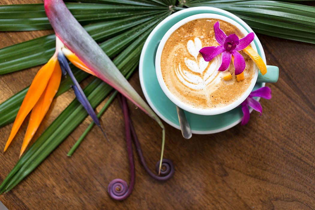 Provision Coffee took their drink menu in a tropical direction this summer with a number of tiki-inspired coffee drinks. Photos by @cronenburger. | Follow them @provisioncoffee.