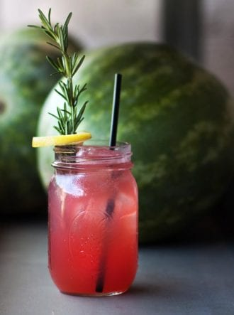 summer cocktail watermelon sling