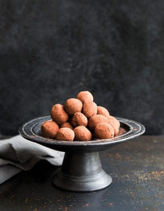 Bourbon and Maple Chocolate Truffles
