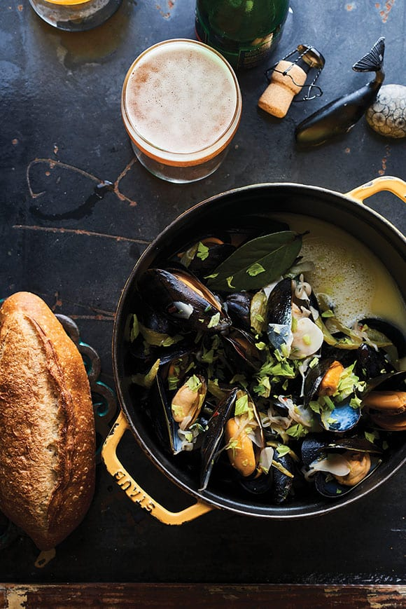 Mussels with Sour Beer. | Photo by Peden + Munk.