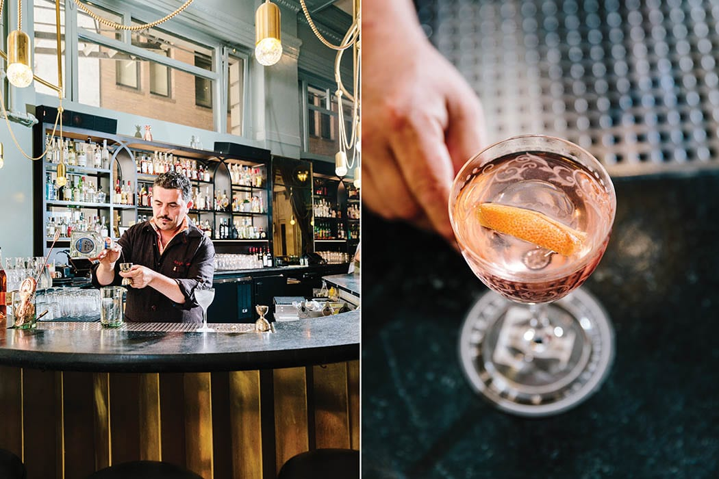 San Francisco bartender and consultant Reza Esmaili at the Treasury Bar, which he helped launch and where he formerly worked. | Photo by Carolyn Fong.