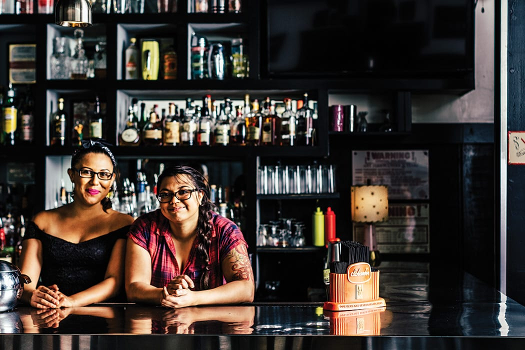 Rosa Ortiz (left) and Bonnie Nag at Trina's Starlite Lounge. | Photo by Michael Piazza