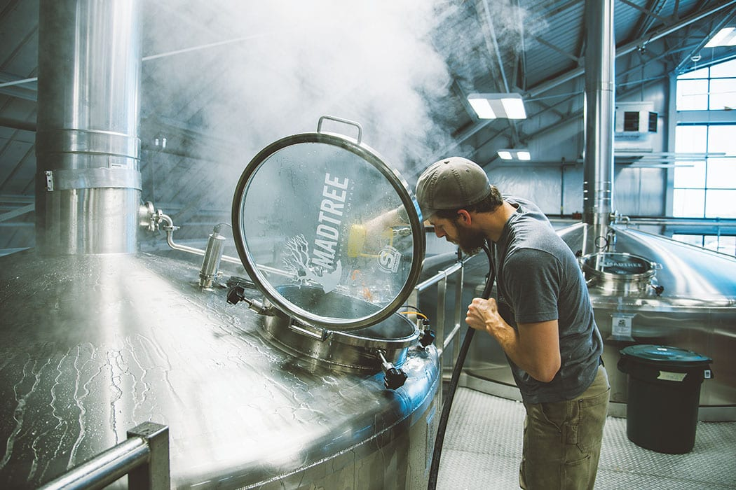 Brewing at MadTree Brewing.