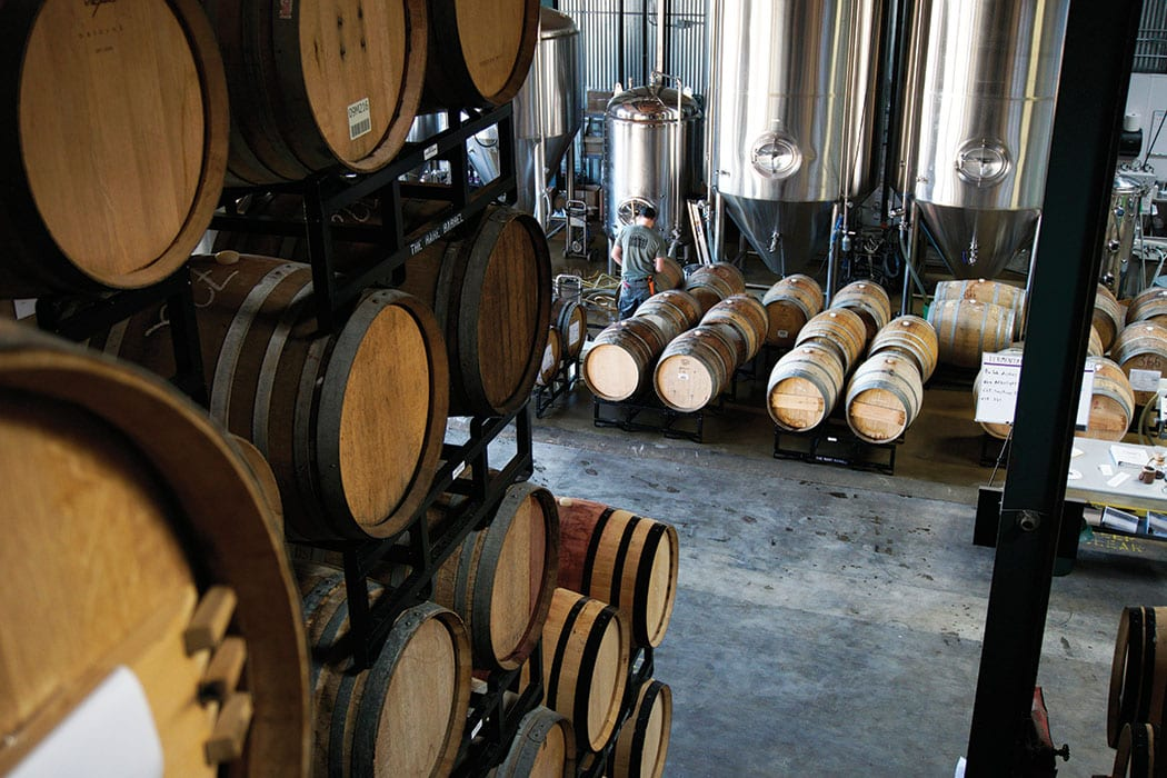 Barrels at The Rare Barrel. | Photo by Tyler Shaughnessy.